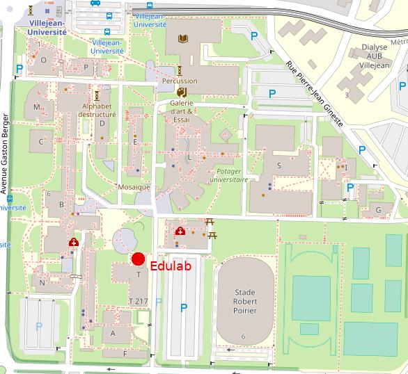 plan campus Rennes 2